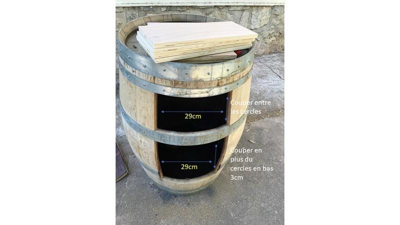 Tutoriel diy tonneau transform en bar - Couper un tonneau en deux ...