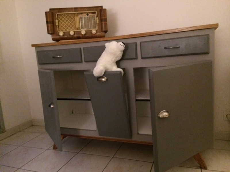 tutoriel diy relooking d 39 un meuble ann es 60. Black Bedroom Furniture Sets. Home Design Ideas