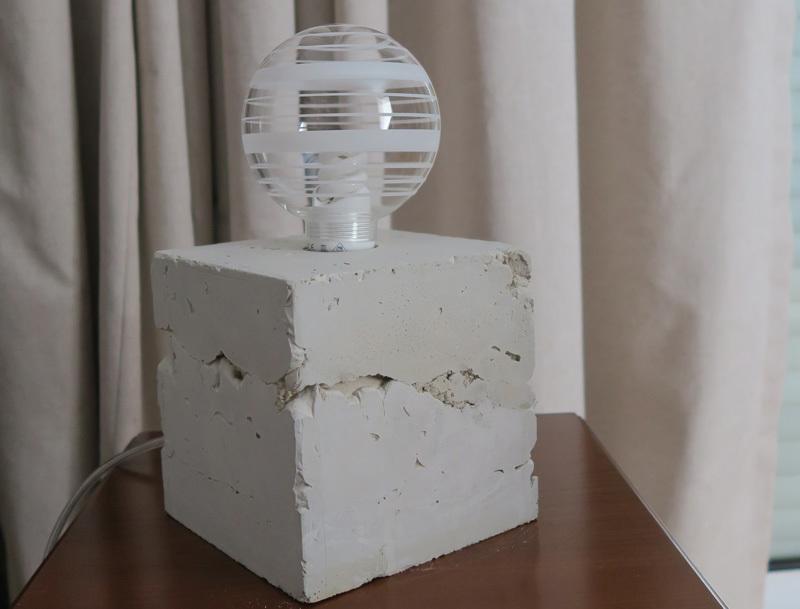tutoriel diy la lampe b ton concrete lamp. Black Bedroom Furniture Sets. Home Design Ideas