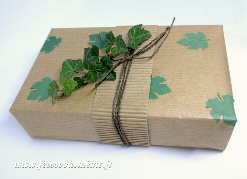 Paquet cadeau nature lierre