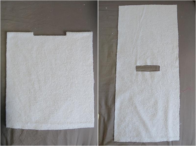 tutoriel diy un poncho de bain pour b b. Black Bedroom Furniture Sets. Home Design Ideas