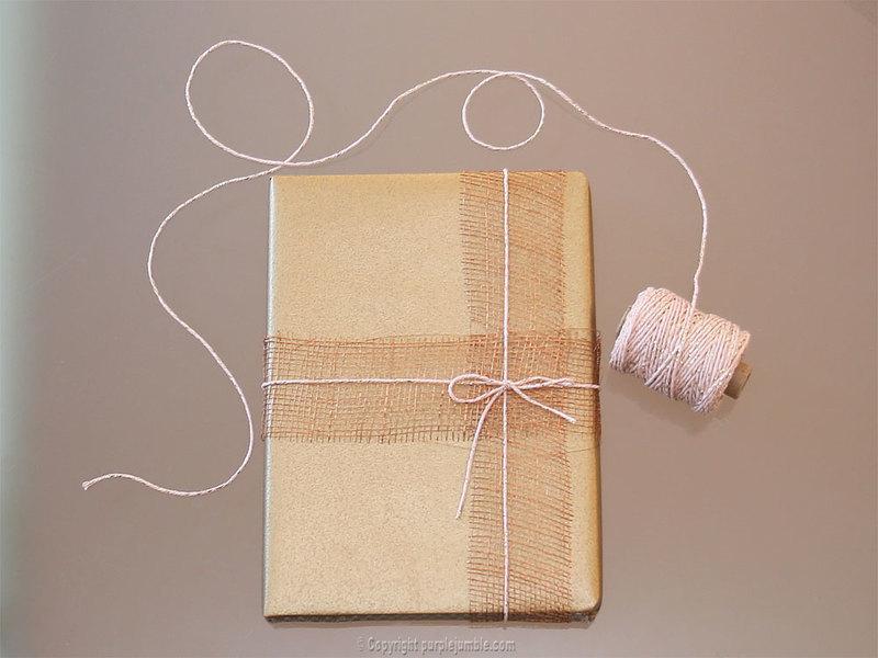 Diy paquet cadeau nature 8
