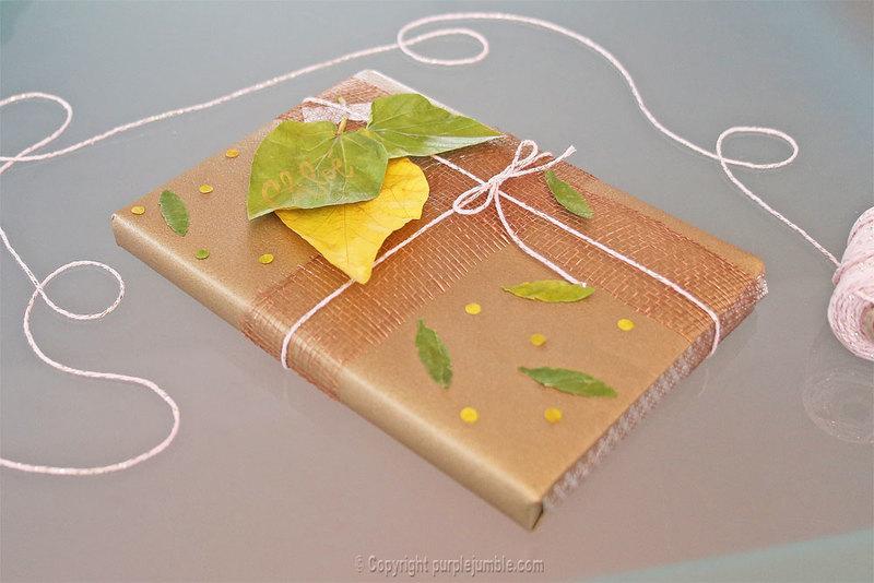 Diy paquet cadeau nature 15