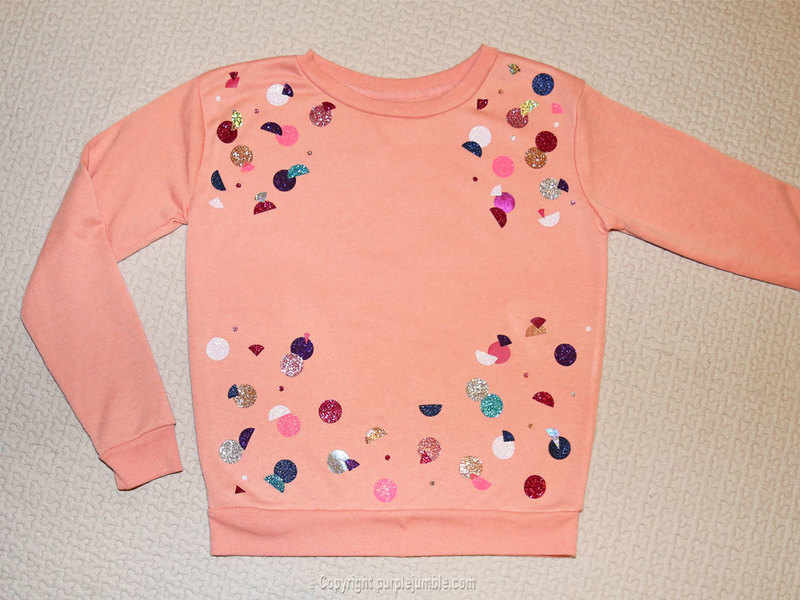 Diy sweat customis%c3%a9 ronds paillettes 9