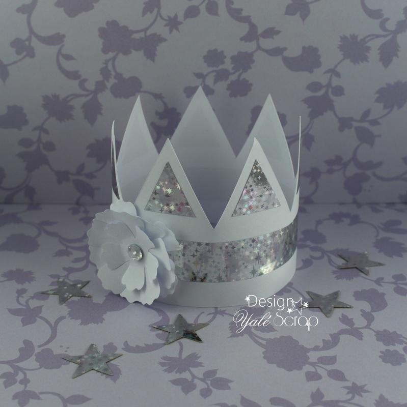 01 1 yal%c3%a9 scrap diy mini couronne galette des rois epiphanie petite reine fleur