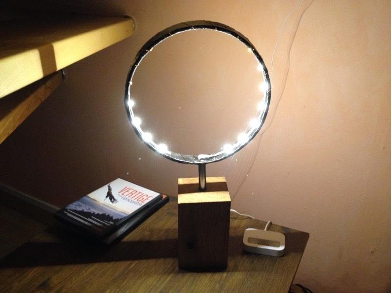 Tutoriel diy une lampe autour d 39 un fer de roue for Changer une douille de lampe
