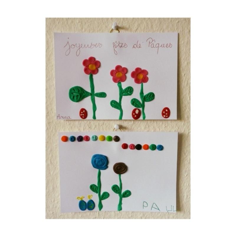 Carte de fleurs en p%c3%a2te %c3%a0 modeler   chagazetvous   oam x oxybul  1
