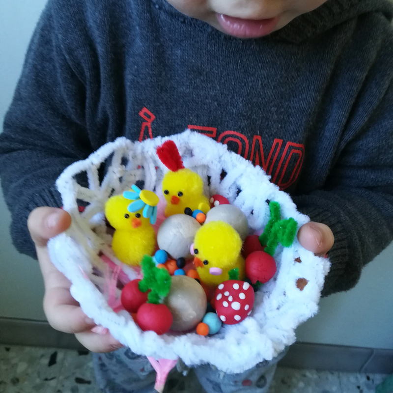 Diy tuto idee bricolage chapeau nid poussin oiseau oeuf paques deguisement modelage