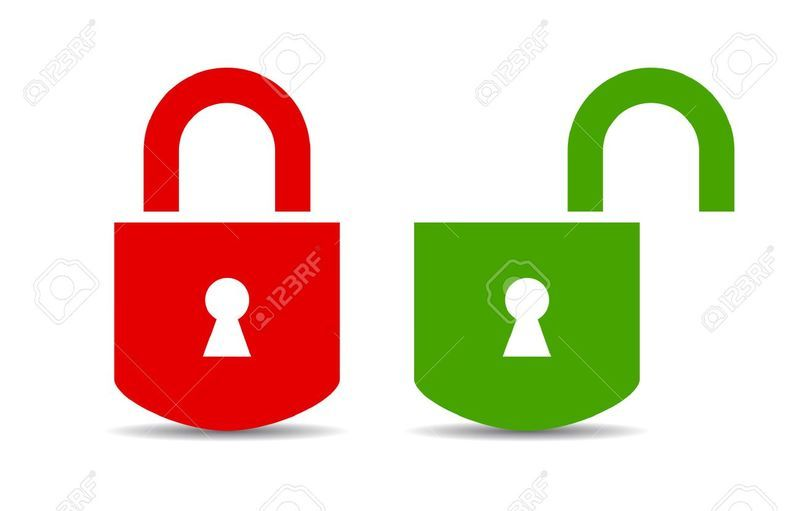 Logo open and closed padlock