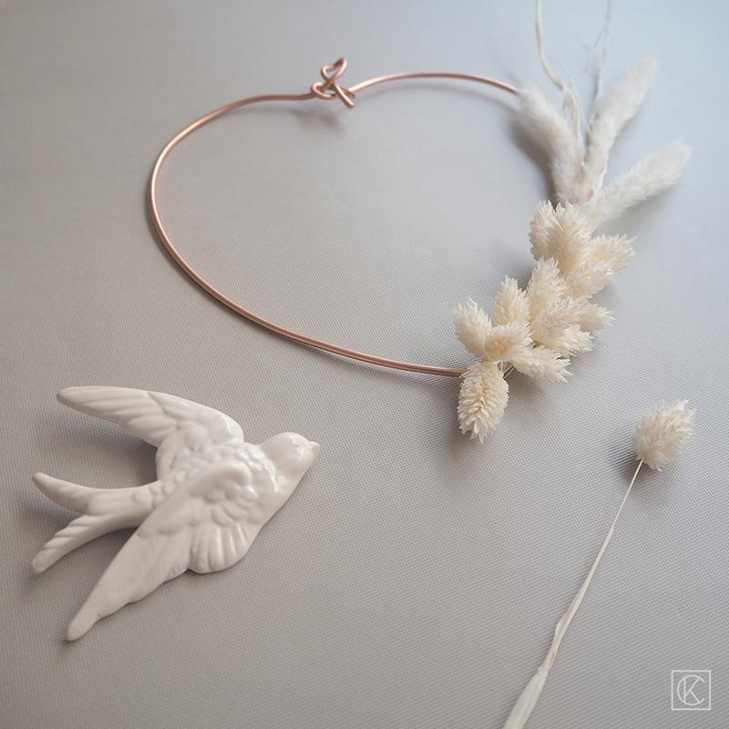 Diy couronne fleurs sechees coeur kraftandcarat 12