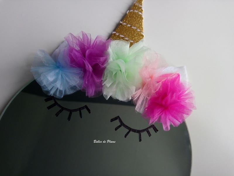 Bullesdeplume miroirlicorne yeux en place