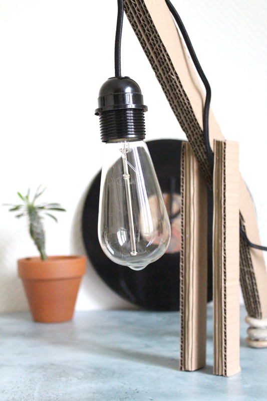 Operation creation blog diy lampe carton pin