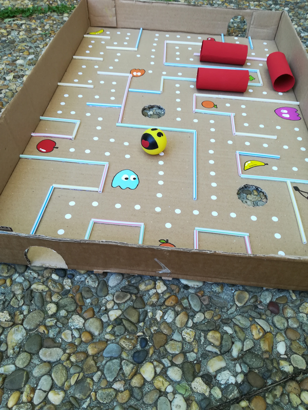 Diy tuto pac man geant labyrinthe bille