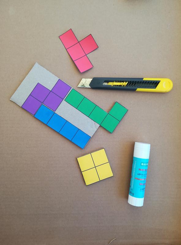 Diy jeu tetris carton