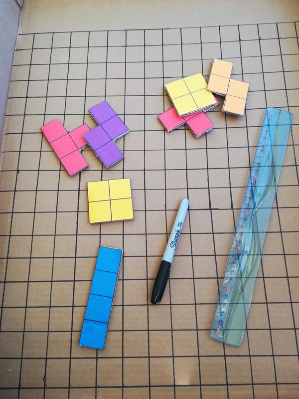 Diy tuto recup ecolo tetris carton papier