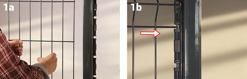 Positionner panneau poteau h etape1