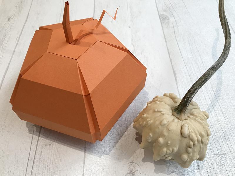 Diy paper halloween pumpkin kraftandcarat 21bd
